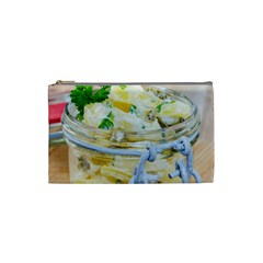 Potato Salad In A Jar On Wooden Cosmetic Bag (small)  by wsfcow