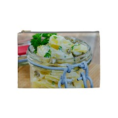 Potato Salad In A Jar On Wooden Cosmetic Bag (medium)  by wsfcow