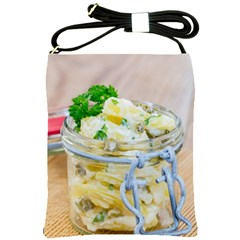 Potato Salad In A Jar On Wooden Shoulder Sling Bags by wsfcow