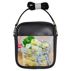 Potato Salad In A Jar On Wooden Girls Sling Bags by wsfcow