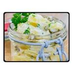 Potato salad in a jar on wooden Fleece Blanket (Small)