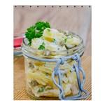 Potato salad in a jar on wooden Shower Curtain 60  x 72  (Medium)