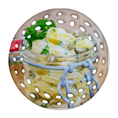 Potato Salad In A Jar On Wooden Round Filigree Ornament (2side) by wsfcow