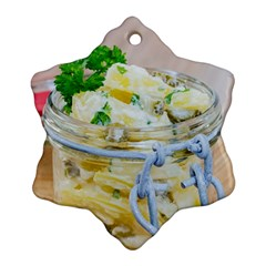 Potato Salad In A Jar On Wooden Snowflake Ornament (2 Side) by wsfcow
