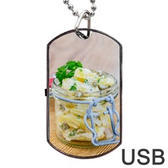 Potato Salad In A Jar On Wooden Dog Tag Usb Flash (two Sides)  by wsfcow