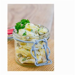 Potato Salad In A Jar On Wooden Small Garden Flag (two Sides) by wsfcow