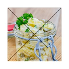 Potato Salad In A Jar On Wooden Acrylic Tangram Puzzle (6  X 6 ) by wsfcow