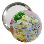 Potato salad in a jar on wooden 3  Handbag Mirrors