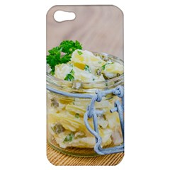 Potato Salad In A Jar On Wooden Apple Iphone 5 Hardshell Case by wsfcow