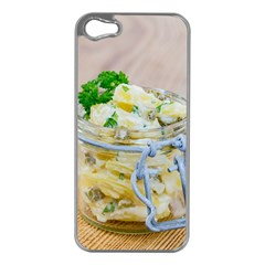 Potato Salad In A Jar On Wooden Apple Iphone 5 Case (silver) by wsfcow