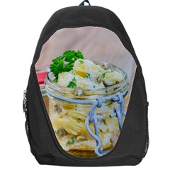 Potato Salad In A Jar On Wooden Backpack Bag by wsfcow