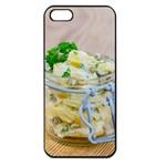 Potato salad in a jar on wooden Apple iPhone 5 Seamless Case (Black)