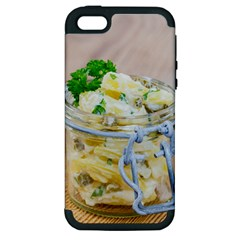 Potato Salad In A Jar On Wooden Apple Iphone 5 Hardshell Case (pc+silicone) by wsfcow