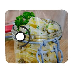 Potato Salad In A Jar On Wooden Samsung Galaxy S  Iii Flip 360 Case by wsfcow