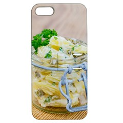 Potato Salad In A Jar On Wooden Apple Iphone 5 Hardshell Case With Stand by wsfcow