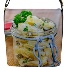 Potato Salad In A Jar On Wooden Flap Messenger Bag (s) by wsfcow