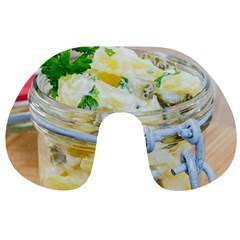 Potato Salad In A Jar On Wooden Travel Neck Pillows by wsfcow