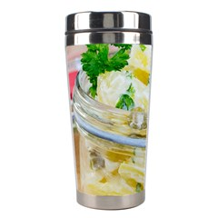 Potato Salad In A Jar On Wooden Stainless Steel Travel Tumblers by wsfcow