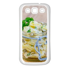 Potato Salad In A Jar On Wooden Samsung Galaxy S3 Back Case (white) by wsfcow