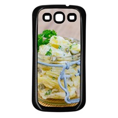 Potato Salad In A Jar On Wooden Samsung Galaxy S3 Back Case (black) by wsfcow