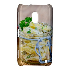 Potato Salad In A Jar On Wooden Nokia Lumia 620 by wsfcow