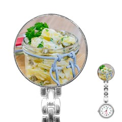 Potato Salad In A Jar On Wooden Stainless Steel Nurses Watch by wsfcow