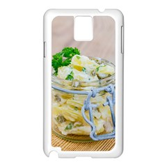 Potato Salad In A Jar On Wooden Samsung Galaxy Note 3 N9005 Case (white) by wsfcow