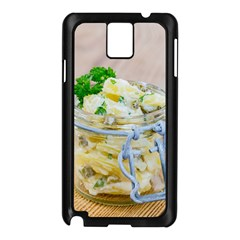 Potato Salad In A Jar On Wooden Samsung Galaxy Note 3 N9005 Case (black) by wsfcow