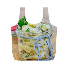 Potato Salad In A Jar On Wooden Full Print Recycle Bags (m)  by wsfcow