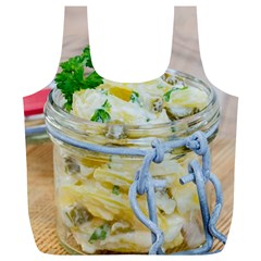 Potato Salad In A Jar On Wooden Full Print Recycle Bags (l)  by wsfcow