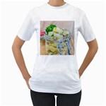 Potato salad in a jar on wooden Women s T-Shirt (White)