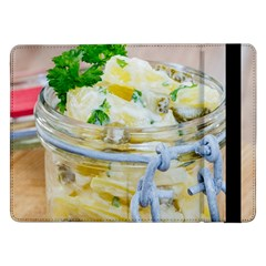 Potato Salad In A Jar On Wooden Samsung Galaxy Tab Pro 12 2  Flip Case by wsfcow