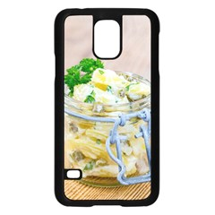 Potato Salad In A Jar On Wooden Samsung Galaxy S5 Case (black) by wsfcow