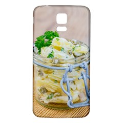 Potato Salad In A Jar On Wooden Samsung Galaxy S5 Back Case (white) by wsfcow