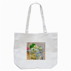 Potato Salad In A Jar On Wooden Tote Bag (white) by wsfcow