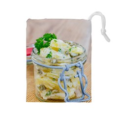 Potato Salad In A Jar On Wooden Drawstring Pouches (large)  by wsfcow