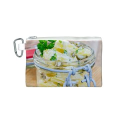 Potato Salad In A Jar On Wooden Canvas Cosmetic Bag (s) by wsfcow