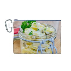 Potato Salad In A Jar On Wooden Canvas Cosmetic Bag (m) by wsfcow