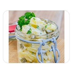 Potato Salad In A Jar On Wooden Double Sided Flano Blanket (large)  by wsfcow