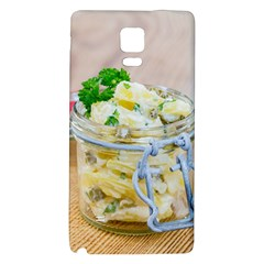 Potato Salad In A Jar On Wooden Galaxy Note 4 Back Case by wsfcow