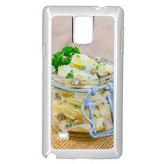 Potato Salad In A Jar On Wooden Samsung Galaxy Note 4 Case (white) by wsfcow