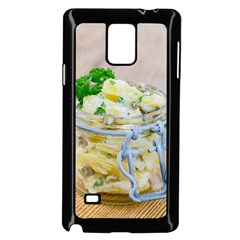 Potato Salad In A Jar On Wooden Samsung Galaxy Note 4 Case (black) by wsfcow