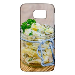 Potato Salad In A Jar On Wooden Galaxy S6 by wsfcow