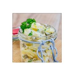Potato Salad In A Jar On Wooden Satin Bandana Scarf by wsfcow