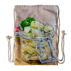 Potato Salad In A Jar On Wooden Drawstring Bag (large) by wsfcow