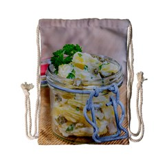Potato Salad In A Jar On Wooden Drawstring Bag (small) by wsfcow