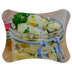 Potato Salad In A Jar On Wooden Jigsaw Puzzle Photo Stand (bow) by wsfcow