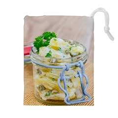 Potato Salad In A Jar On Wooden Drawstring Pouches (extra Large) by wsfcow