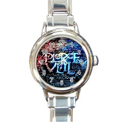 Pierce The Veil Quote Galaxy Nebula Round Italian Charm Watch by Onesevenart