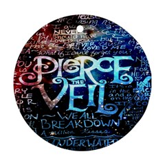 Pierce The Veil Quote Galaxy Nebula Ornament (round)  by Onesevenart